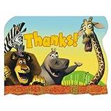 Madagascar 'Escape 2 Africa' Thank You Notes w/ Env. (8ct)