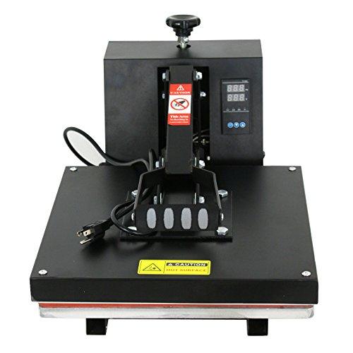 ZENY Heat Press Machine Digital 15-by-15-Inch Sublimation T-Shirt Heat Press Transfer Machine, Black by ZENY