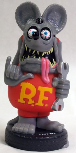 (Rat Fink Wacky Wobbler Bobble Head (Grey))