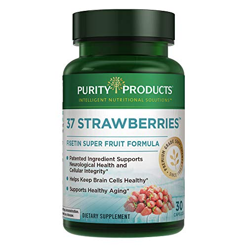 37 Strawberries™ from Purity Products® | Fisetin Super Fruit Formula for Brain Health* | Vegan | One Capsule A Day Is All It Takes – 30 Count