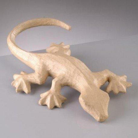 38 cm x larg 25,5 cm Efco L/ézard Gecko en Papier m/âch/é Long