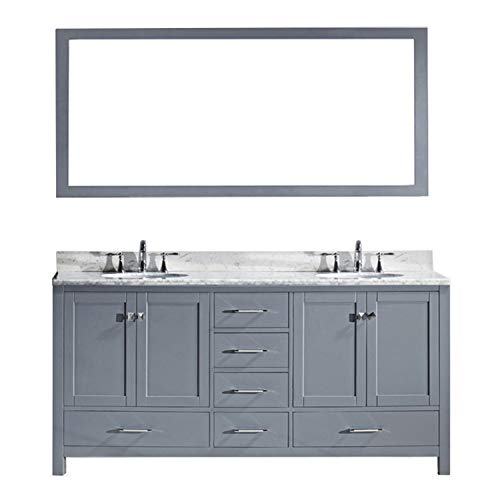 Virtu USA Caroline Avenue 72 inch Double Sink Bathroom Vanity Set in -