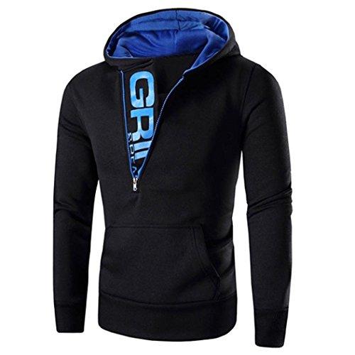 UJUNAORTOP Mens' Long Sleeve Hoodie Hooded Sweatshirt Tops Jacket Coat...