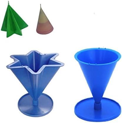 . Proops Set aus 2 Kerzengie/ßformen aus dem Vereinigten K/önigreich 6-zackige-Sternform /& Kegelform mit Fu/ß//St/änder s7682