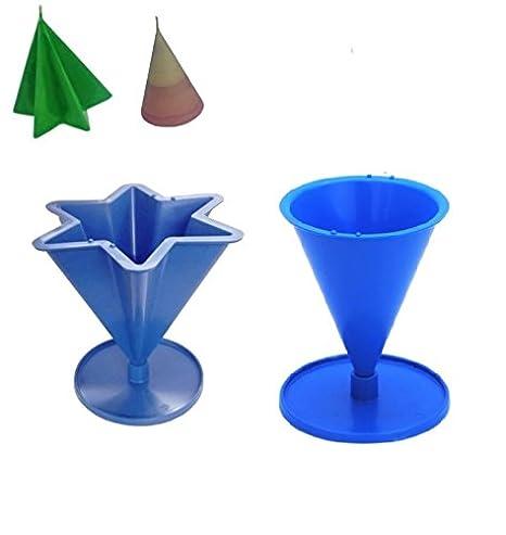 Proops – Juego de 2 moldes para velas, 6 punta cónica forma de estrella &