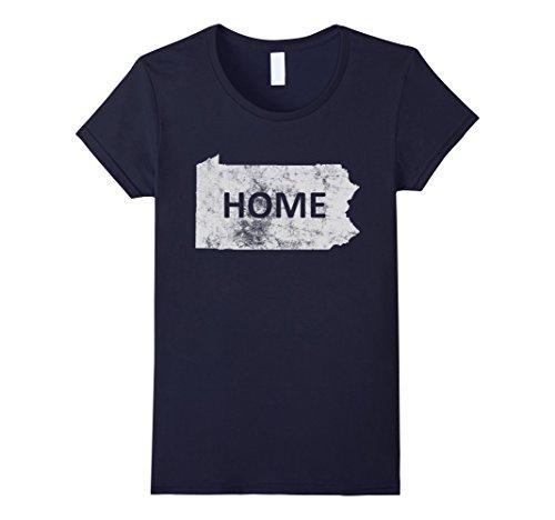 Womens Home   Pennsylvania T Shirt Medium Navy