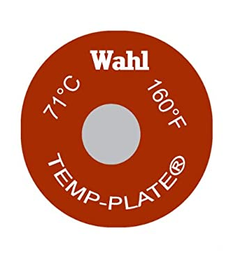 Wahl 414 160F 71C Mylar Round Single Position Temp Plate 160 Degrees