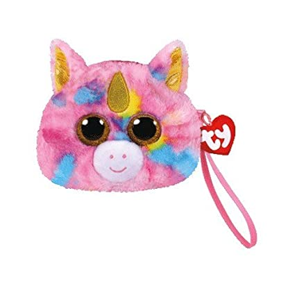 Amazon.com  TY Gear Beanie Boos FANTASIA the Unicorn Wristlet Coin Purse  with Strap  Toys   Games c745b9122860