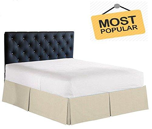 フローのリネントップ販売プリーツ分割Cornor bed-skirtソリッド(パターン) 400-tcエジプト綿カリフォルニアキング(72 x 84 ) サイズbed-skirt (ドロップ/Fall) すべての色 Cal-King 72 X 84 Size (11