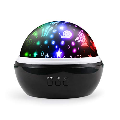 Ifecco Baby Moon Star Night Light Rotating Ocean Projector Night Light