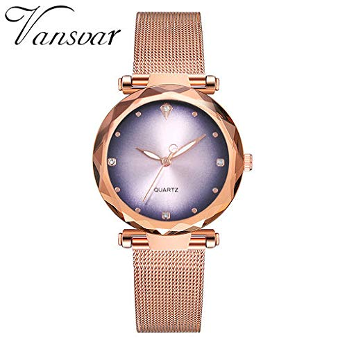 (The Best Gift!!Aries Esther Fashion Luxury New Casual Quartz Stainless Steel Band Newv Strap Watch Analog Wrist Watch)