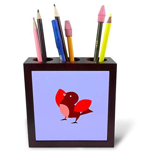 3dRose Amar Singha Art - Bird - A Little Cute Bird. - 5 inch Tile Pen Holder (ph_289486_1)