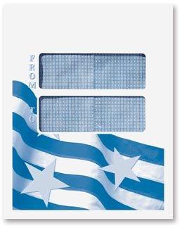 EGP 1040 Tax Return Double Window Mailing Envelope - Patriotic