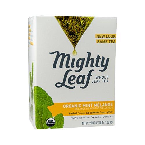 Mighty Leaf Tea Organic Tea, Mint Melange, Whole Leaf Pouches, 15 ct Mightly Leaf Tea