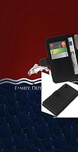 KLONGSHOP // Tirón de la caja Cartera de cuero con ranuras para tarjetas - Familia Deber Honor Tully - Sony Xperia Z2 D6502 //