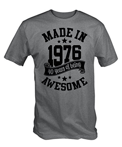 6TN Mens Made in 1976 40 Years of Being Awesome T Shirt