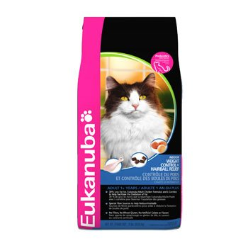 Eukanuba Cat Indoor Weight Control and Hairball, 8 Pound, My Pet Supplies