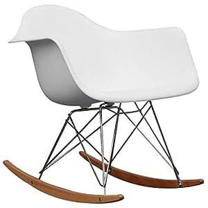 Baxton Studio Letterio White Cradle Chair