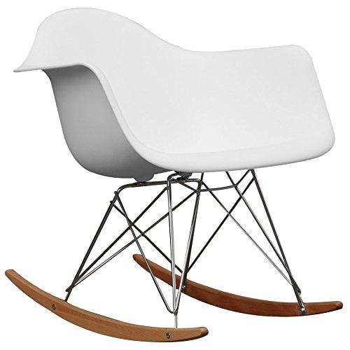 Baxton Studio Letterio White Cradle Chair DC-311W-white