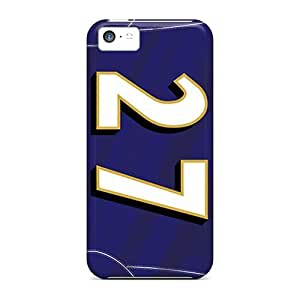 Shock Absorbent Cell-phone Hard Cover For Iphone 5c With Allow Personal Design Nice Baltimore Ravens Pictures JamieBratt