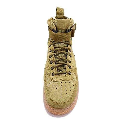 Nike Heren Sf Af1 Mid Desert Mos Suede Maat 14