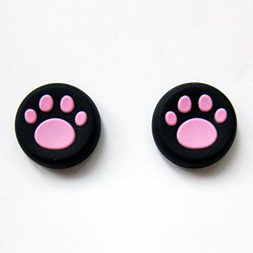 Vivi Audio® Thumb Stick Grips Cap Cover Joystick Thumbsticks Caps For PS4 XBOX ONE XBOX 360 PS3 PS2 Pink Cat Dog Paw ()