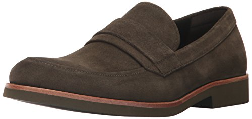 Calvin Klein Men's Forbes Calf Suede Slip-On Loafer,Olive,10 M US by Calvin Klein