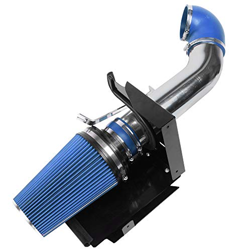 "MooSun 4"" Performance Cold Air Intake Kit With Filter For GMC Chevy Chevrolet 1999 2000 2001 2002 2003 2004 2005 2006 V8 4.8L/5.3L/6.0L (Blue)"