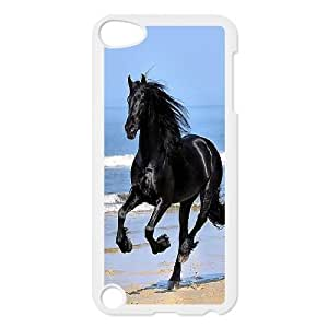 Customized Horse Black Ipod Touch 5 Case, Horse Black DIY Case for iPod Touch5 at Lzzcase
