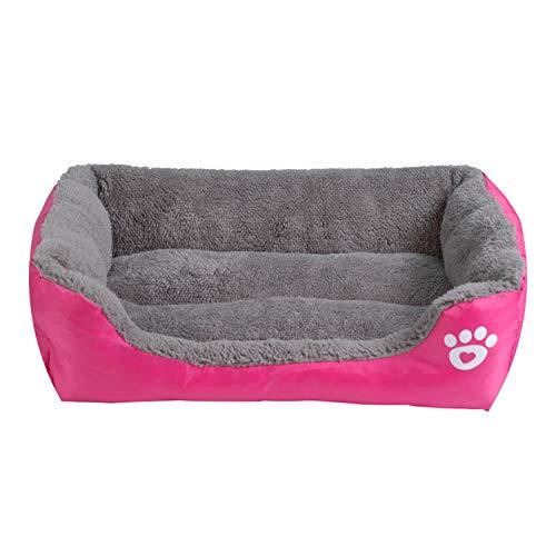 9 Colors Pet Sofa Dog Beds Waterproof Bottom Soft Fleece,Fushia,XL