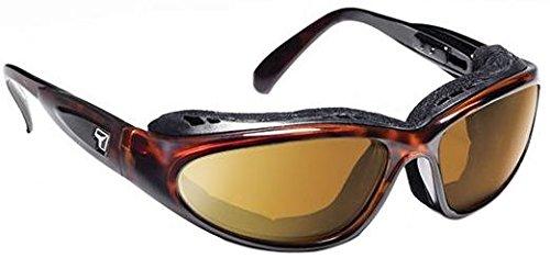 (7eye Men's Cape Resin Sunglasses,Dark Tortoise Frame/SharpView Copper Lens,one size)