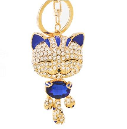 Amazon.com: Cute Kitten espumoso Llavero Blingbling Crystal ...