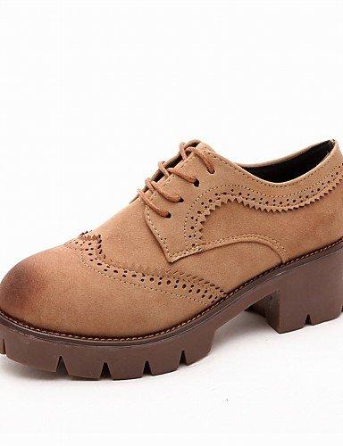 Redonda Oxfords Brown Njx Zapatos us8 Eu39 Cn3 Oficina De Casual Plataforma Punta Tacones us8 Trabajo Cn39 Uk6 Gray Exterior Vestido Hug Mujer Y 88qx5Y1