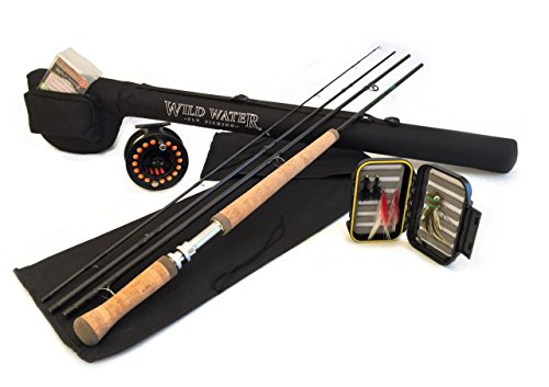 Wild Water Complete 5 Weight Switch Rod Fly Fishing Starter Package for Bass and Pike - Fishing Fly Starter Rod