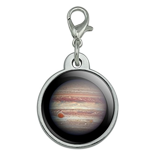 Graphics and More Planet Jupiter Solar System Chrome Plated Metal Pet Dog Cat ID Tag - Small