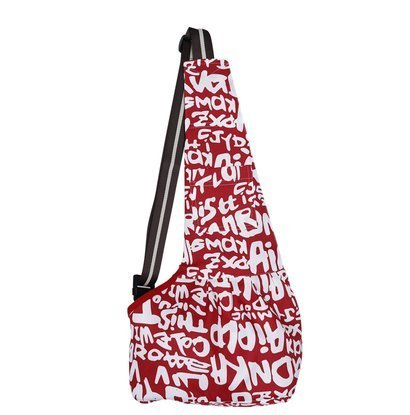 (Small, Red Letter) Pet Dog Puppy Cat Carrier Bag Oxford Cloth Sling Dog Doggy Cat Carrier Single Shoulder Bag