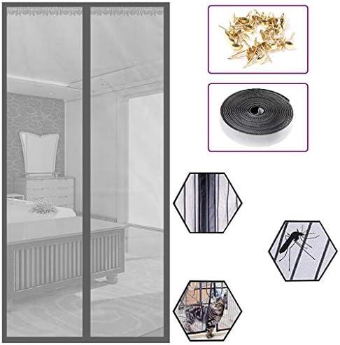 玄関カーテン/玄関用網戸 ドア用 マグネット式 猫や犬のために設計された網戸ネット 虫よけ 害虫対策 風を取り込み 虫を入れさせない 玄関 ドア 勝手口 ベランダ