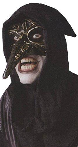 Venetian Raven Masquarade Carnival Mardi Gras Adult Halloween Costume (Venetian Raven Mask Costume)