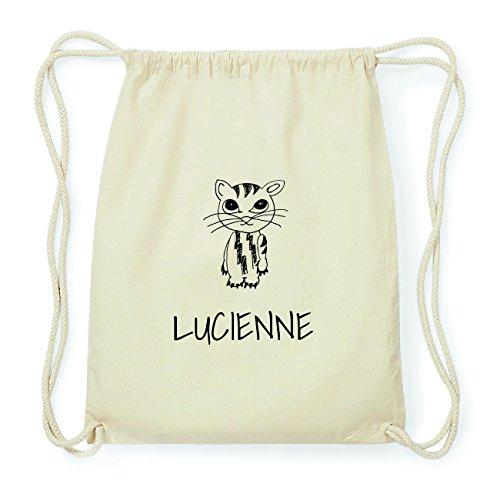 JOllipets LUCIENNE Hipster Turnbeutel Tasche Rucksack aus Baumwolle Design: Katze
