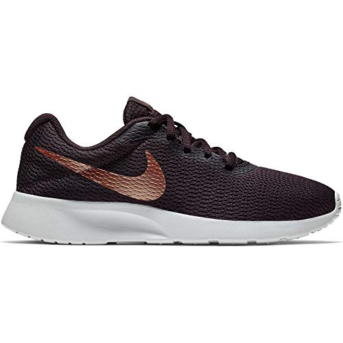 bd8318589368 Nike Women s Tanjun Shoe Burgundy Ash Metallic Red Bronze Size 7.5 ...