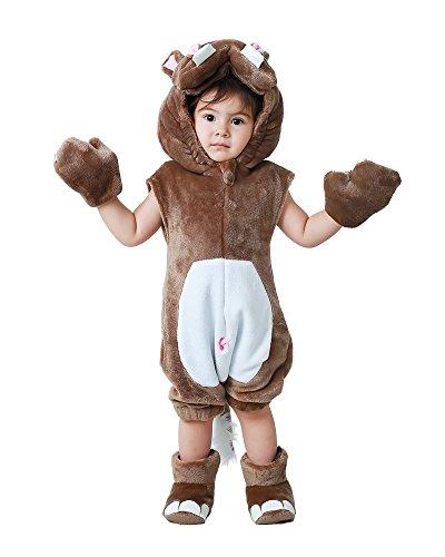 Miccostumes Kids Hippo Halloween Cosplay Animal Mascot Costume (Hippo Mascot)