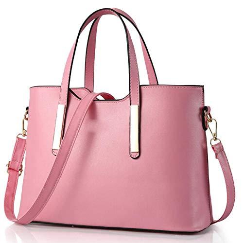 Borsa Pelle Donna Con Nappa Pink Tzq Tracolla Di Sintetica Borse A Per Totalizzatore Grande q6ZxtgxY