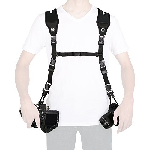 (Custom SLR Dual Camera Strap Kit - Makes a Harness Strap for Two Cameras (KIT ONLY. Glide Straps sold separately))