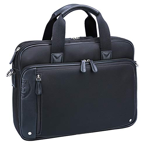 - Ronts Black Briefcase Waterproof Nylon Leather for Men 14-15.6 Inch Laptop Business Messenger Bag Attache Case Shoulder Handbag
