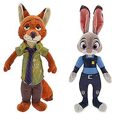 2pcs/Set 25 cm Judy Hopps and Nick Wilde from Zootopia Soft Toy: Toys & Games