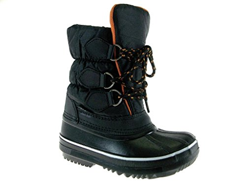 Price comparison product image Ositos Infants BHD06-I Quilted Lace up Winter Boots, Black, 6