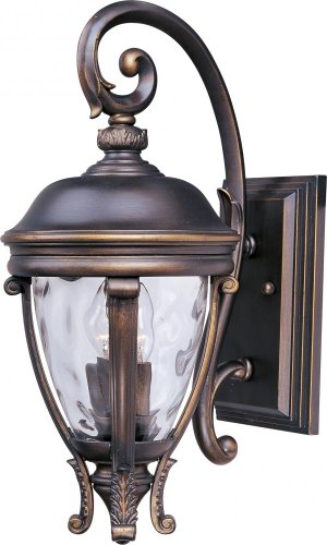 Camden Outdoor Wall Lantern - Maxim Lighting 41424WGGO Two Light Water Glass Wall Lantern, Golden Bronze