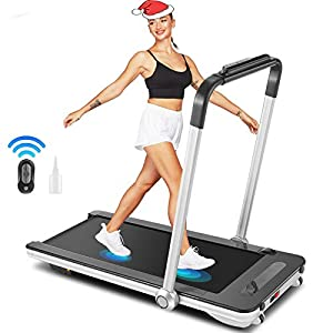 Well-Being-Matters 41B89qFLM9L._SS300_ Treadmill for Home,Folding Treadmill,2 in 1 Under Desk Treadmill Walking Jogging Running Mchine with Remote Control…