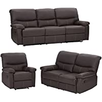Mr Direct 3PC Motion Sofa Loveseat Recliner Set Living Room Bonded Leather Furniture
