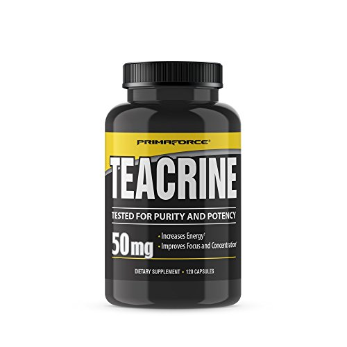 PrimaForce Teacrine Supplement, 120 Capsules – Increases Energy / Improves Focus and Concentration by Primaforce